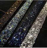 Rhinestone caliente del acoplamiento de la etiqueta engomada de la parte posterior del Rhinestone del arreglo del Rhinestone cristalino de la etiqueta engomada en los accesorios DIY (TP-080silver)