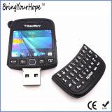Mecanismo impulsor material del flash del USB de la dimensión de una variable del teléfono móvil del PVC (XH-USB-071)