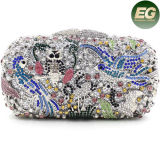Cute Bird Pattern Sac en cristal de soirée Lady Colorful Rhinestones Purse Leb752
