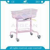 AG-CB009 Hospital de uso Mudanza Profesional infantil ajustable Hospital de la cama de bebé