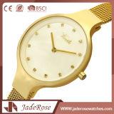 Reloj clásico del cuarzo de la dial de las mujeres redondas de la dimensión de una variable