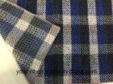 Panno di lana blu & nero dell'assegno del tessuto di riserva delle lane