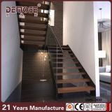 Escalera de acero del hierro labrado con el pasamano de cristal (DMS-2013)