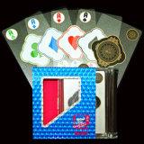 Cartões de jogo transparentes do PVC do plástico com caixa de alumínio