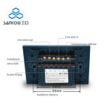 3gang 2way wir 118 helle Schalter 110V220V Standarddes kristallglas-Panel-weiße Wand-Noten-Schalter-LED