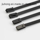 Usine dans des serres-câble enduits d'acier inoxydable de blocage de bille de PVC de fabrication de la Chine