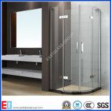 Fabricante Puerta de la ducha de 8mm 10mm Vidrio templado / Vidrio templado del cuarto de baño