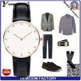 Yxl-240 het Merk van het Kwarts van het Horloge van het Embleem van de Douane van de Manier van de Vrouwen van mannen let op de Echte Pols Van de Bedrijfs mannen van het Leer van het Horloge