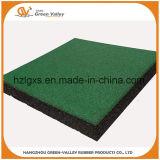 Tuiles en caoutchouc de couvre-tapis en caoutchouc colorés approuvés de plancher de la CE pour l'école