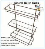 Минеральная вода кладет стеллаж для выставки товаров на полку металла