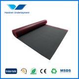 Schwarzer EVA-SchaumgummiUnderlayment für lamellenförmig angeordneten Bodenbelag
