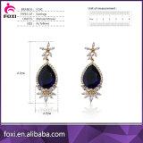 Gold 18k überzog AAAkubikzirconia-Form-Ohrring-Entwürfe