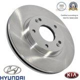 Rotor de frein à disque de véhicule de pièces d'auto de série de rue pour Hyundai/KIA