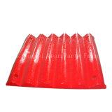 Mascella mobile dei pezzi di ricambio C125 del frantoio a mascella, mascella fissa, piatto del dente