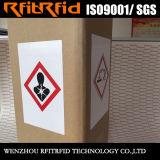 Autoadesivo resistente chimico del contrassegno della lunga autonomia RFID Ghs di frequenza ultraelevata per la logistica