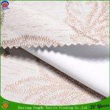 Сплетенное покрытие полиэфира Linen Flocking водоустойчивая ткань занавеса светомаскировки Fr