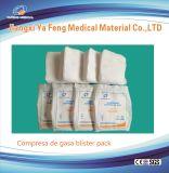 Bloco estéril absorvente do cotonete 5PCS da gaze do algodão de 100%