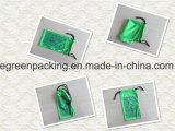Bolsa de las gafas de sol del color verde 100%Polyester Microfiber