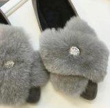 2016 invierno los últimos planos de los zapatos ocasionales de las mujeres de Florry y del Rhinestone