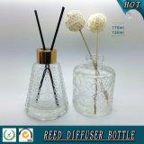 Botella de cristal del alto del aroma difusor material blanco de la caña