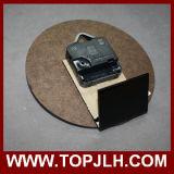 Reloj en blanco de la sublimación del panel duro del MDF de la luz blanca