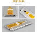 Boîtier pc liquide de cuvette de vin de cocktail de flux de cas de téléphone cellulaire pour l'iPhone 7 plus 6 6s
