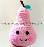 Hand Crocheted Pillow Cushion Fruit Doll Children Room Decoração Toy Gift