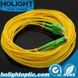 Оптическое волокно Patchcord Sca к желтому цвету E2000A двухшпиндельному Sm