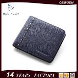 Бумажник логоса верхнего качества выбитый таможней неподдельный тонкий черный кожаный