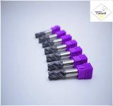 Cutoutil  4本の歯35° 螺旋形の切口の鋼鉄D12 30*75*12 固体炭化物の端製造所のツール