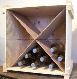 Деревянный шкаф коробки хранения индикации бутылки напитка и вина