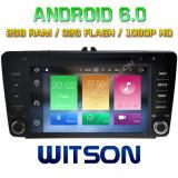 Véhicule DVD de l'androïde 6.0 de faisceau de Witson huit pour Skoda Octavia