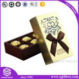 Rectángulo de empaquetado del chocolate de la impresión de papel