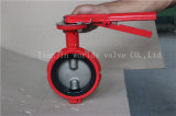 De Vleugelklep van het Type van Wafeltje van Demco van de rode Kleur Met Goedgekeurd Ce ISO Wras (D71X-10/16)