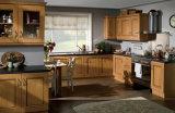 台所家具のアクセサリの純木の食器棚