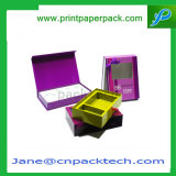 Regalo cosmético de encargo del perfume que empaqueta el rectángulo de papel de la ventana del PVC