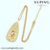 Ожерелье ювелирных изделий листьев диаманта конструкции разрыва глаза платины способа Necklace-00354 форменный