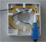 FTTH 2ポートの光ファイバ端子箱か小さい机ボックス