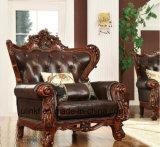 Sofà classico del cantante della mobilia del cuoio domestico del salone (UL-NS057)
