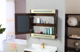 Modern Gloss Paint MDF Bathroom Vanity Unit with Mirror Cabinet