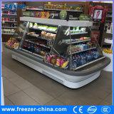 refrigerador aberto de encaixe do indicador de Multideck da meia altura de 1.5m para o varejo