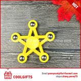 Girador plástico da inquietação do girador do dedo dos brinquedos do girador da mão da estrela do projeto o mais novo