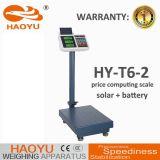 escala reduzido eletrônica de 300kg Digitas com painel solar T6-2