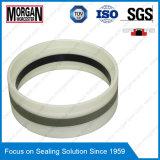 Tipo anel de Gd1000k do selo do pistão do cilindro hidráulico de PA/PTFE/POM/NBR
