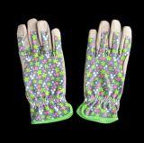 De grijze Volledige het Tuinieren van de Palm Microfiber Handschoen van het Werk met het Naaien van Elastiek