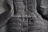 Revestimento Cotton-Padded cinzento do `S das mulheres