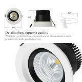 la MAZORCA de interior LED del CREE de 20W Dimmable ahuecada pone de relieve 90-130VAC/200-240VAC Downlights