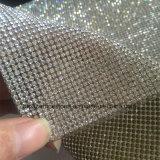 Mão de vidro Rhinestone quente Sewn da fileira do Rhinestone do engranzamento da vara da parte traseira do Rhinestone do reparo da broca da vara para ornamento da roupa das sapatas nos acessórios DIY (TP-080silver)