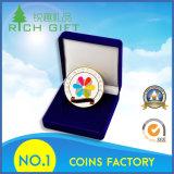 En estampant ou la pièce de monnaie de médaille en métal de moulage mécanique sous pression avec de l'or/argent/nickel/placage en laiton antique