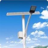 Lâmpada de rua solar da liga de alumínio com Pólo de aço